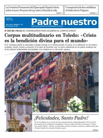 Número 1.181. 2-3 de julio - Archidiócesis de Toledo