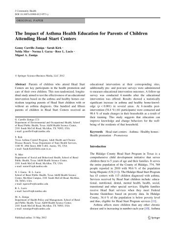 investigation about impact of parents education on children Minous research on the value and impact of parent engagement on their children's  the power of parents  n the power of parents n february 2014 of education .