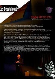 Dossier de présentation - Théâtre de la Maison du Peuple