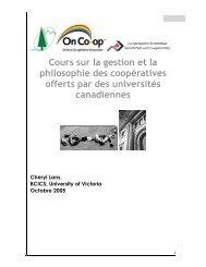 Cours sur la gestion et la philosophie des coopératives ... - CoopZone