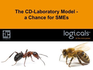 The CD-Laboratory Model - a Chance for SMEs - Software ...