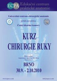 KURZ CHIRURGIE RUKY - ECPA-CZ o.p.s.