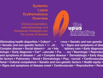 Systemic Lupus Erythematosus Overview - The Lupus Initiative
