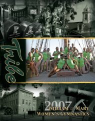 2007 Media Guide - Tribe Athletics - College of William and Mary