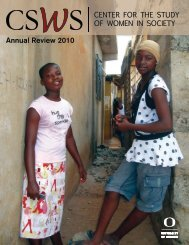 Annual Review 2010 - Center for the Study of Women in Society ...