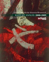 CANB Rapport annuel 2008-2009 - artsnb
