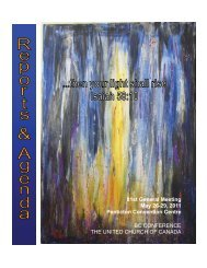 Reports & Agenda Book - BC Conference - The United Church of ...