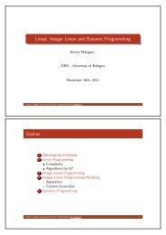 Linear, Integer Linear and Dynamic Programming