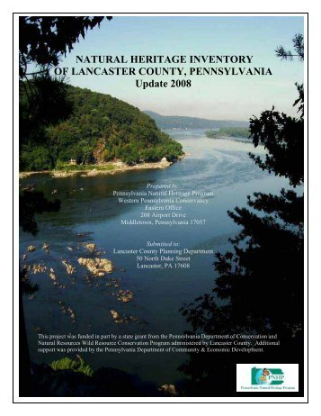 2008 Natural Heritage Inventory of Lancaster County, PA