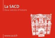La SACD - Deux siècles d'histoire