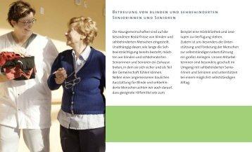 Betreuung von blinden und sehbehinderten Seniorinnen und ...
