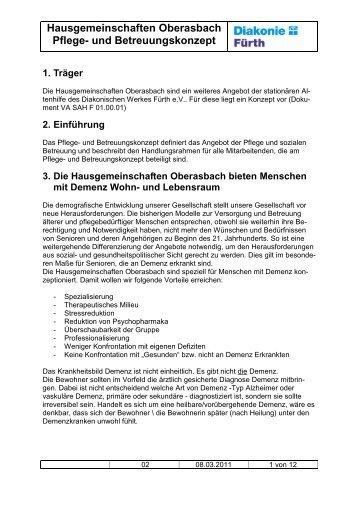 Hausgemeinschaften Oberasbach Pflege- und ... - Diakonie Fürth