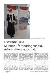 Kvinnor i förändringens tid, reformationens och vår