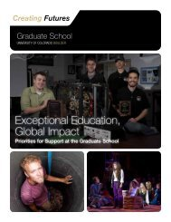 Graduate School - University of Colorado Foundation