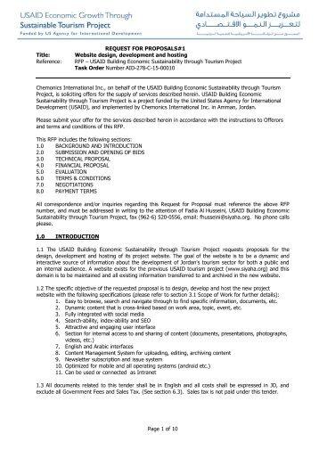 RFP 1 Development of siyaha org website Final