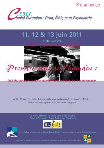 Séminaire - Institut wallon pour la santé mentale (IWSM)