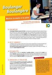 Boulanger Boulangère - Onisep