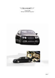 page 1 Pricelist 2009 Bentley Continental Flying Spur