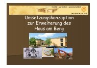 Umsetzungskonzeption zur Erweiterung des Haus am Berg