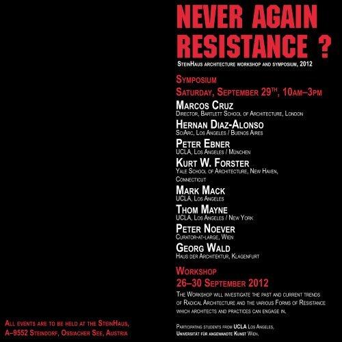 Never Again Resistance Symposium Program Noever Design Com
