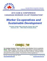 Worker Co-operatives and Sustainable Development - CoopZone