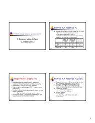 2. Programmation linéaire a. modélisation Programmation ... - igt.net