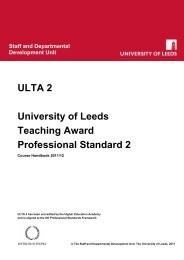 ULTA-2 Course Handbook 2011/12 - Staff and Departmental ...