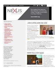 LUNCH LISTEN LEARN ASK LEAD NEXUS Class ... - nexus leaders