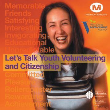 YOUTH VOLUNTEER brochure - Volunteer Now