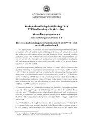 Verksamhetsförlagd utbildning LP11 VFU-bedömning – beskrivning ...