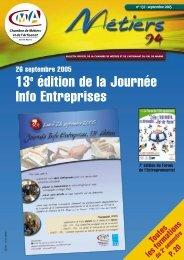 13e édition de la Journée Info Entreprises - Chambre de Métiers et ...