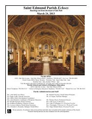 Saint Edmund Parish Echoes - St. Edmund Parish