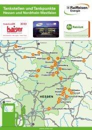 Tankstellen und Tankpunkte der Raiffeisen Waren GmbH