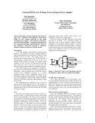 Solving EMI for Low Wattage Universal Input Power Supplies Jim ...