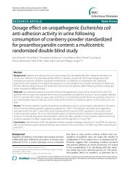 Dosage effect on uropathogenic Escherichia coli anti ... - ellura
