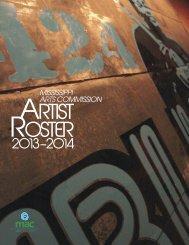 Artist roster - Mississippi Arts Commission - ms.gov