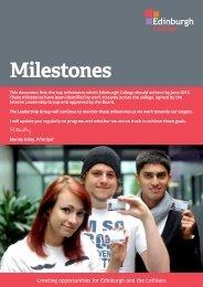 Key Milestones for Edinburgh College - Hays