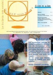 Som m aire Editorial Editorial - Ce.RAIC