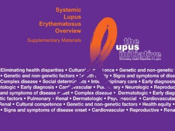 PDF of Entire Slide Set - The Lupus Initiative