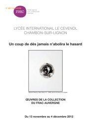 Journal d'Exposition - FRAC Auvergne