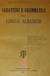 Caratteri e grammatica della lingua albanese - Sezione di Albanologia