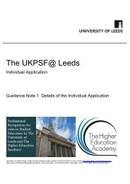Guidance Note 1:Details of the Individual Application - Staff and ...