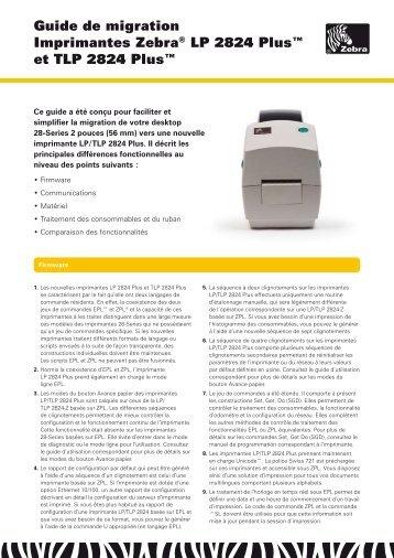 Gamme des imprimantes Zébra - Solumag
