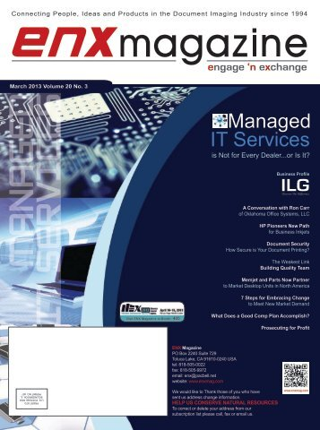 March 2013 Issue in PDF - ENX Magazine