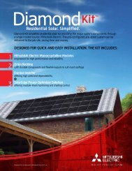 Download the Diamond Kit Specification Sheet - Mitsubishi Electric