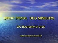 DROIT PENAL DES MINEURS