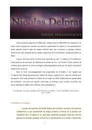 Nicolas DELPRAT - FRAC Auvergne