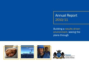 GDF Annual Report - Gauteng Provincial Treasury