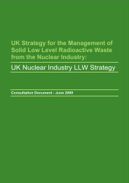 NDA Low Level Waste: - Nuclear Decommissioning Authority