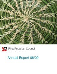 2008/09 Annual Report - First Peoples